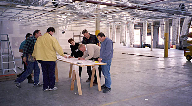Interior design, project management and construction of Warehouse conversion. Works include inter-active Showrooms allowing for up to 250 people standing at New Range Releases.