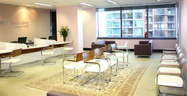 Sydney Breast Clinic Registration and Waiting Area L12 99 Bathurst Street Sydney