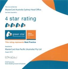 Green Star Certificate - smaller