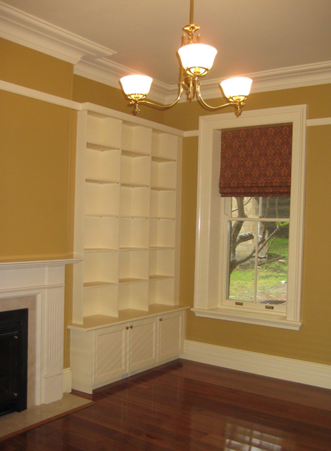 The Minister's Office at The Manse. Purpose built joinery throughout the building was installed to specification.